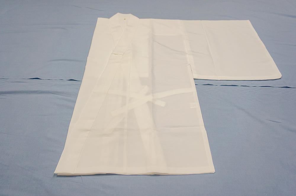 ポリ紬 二部式白衣
