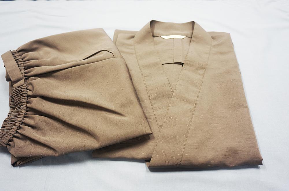 ポリ紬 作務衣