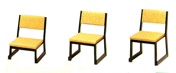 本堂用背付椅子