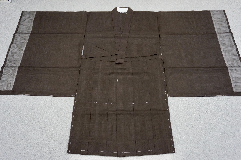 夏用化繊 茶衣