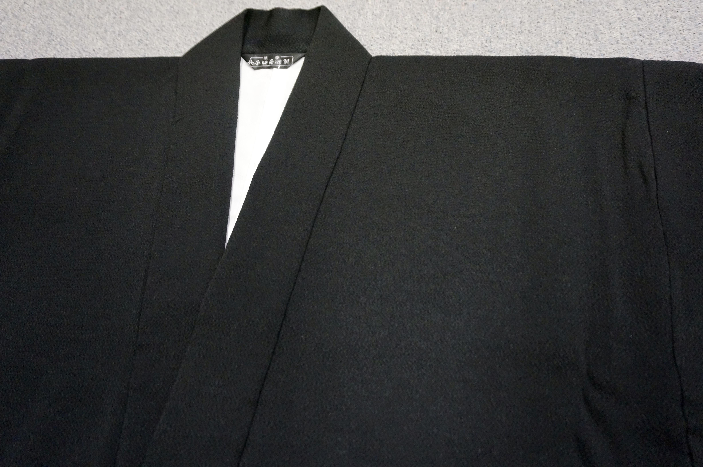 冬用正絹 黒衣