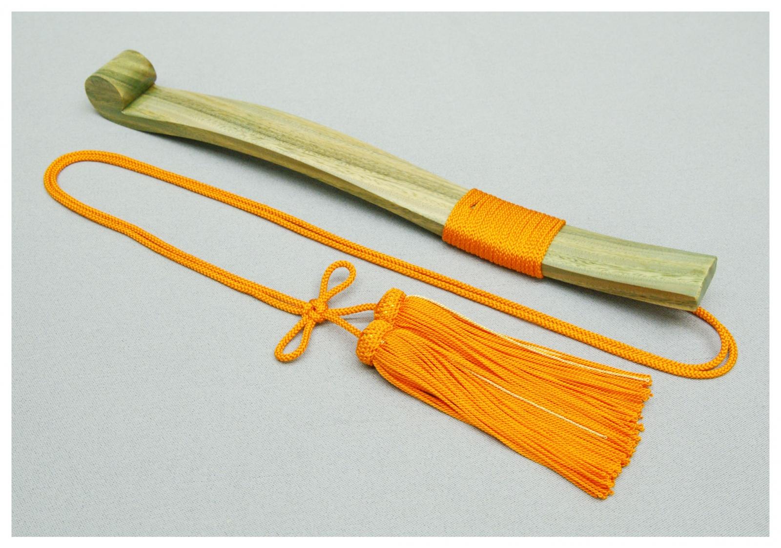笏 緑壇製(正絹房付)