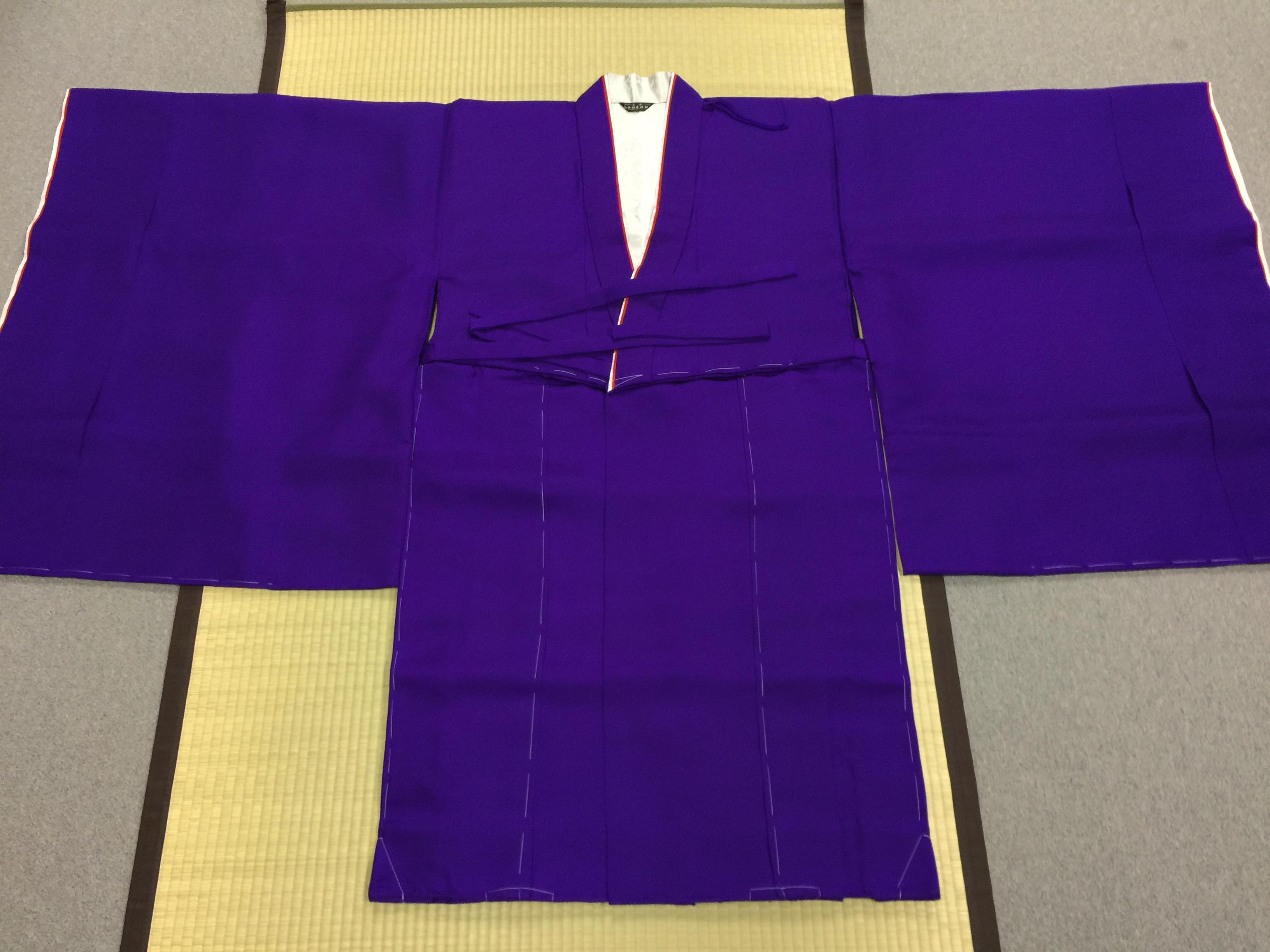 冬用正絹 紫衣