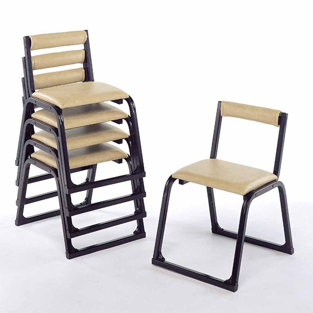 アルミニウム製 本堂用椅子(背もたれ付)