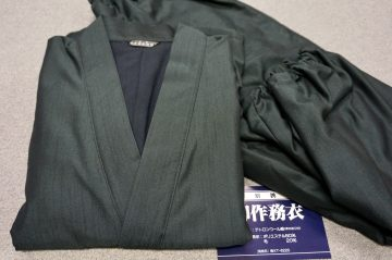 冬用別誂作務衣 テトロンウール紬(総裏フリース仕立)